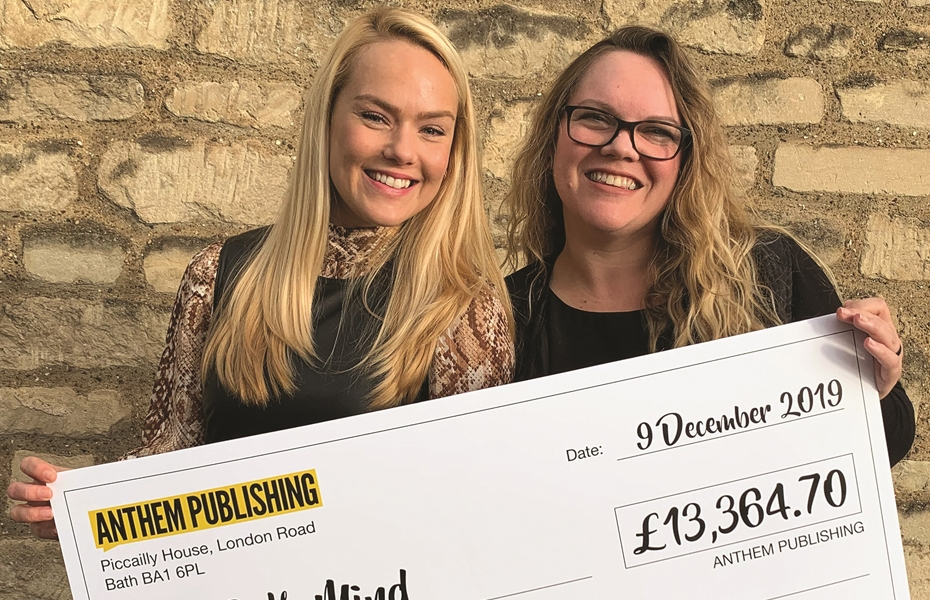 Anthem Publishing raises over £13,000 for Bath Mind