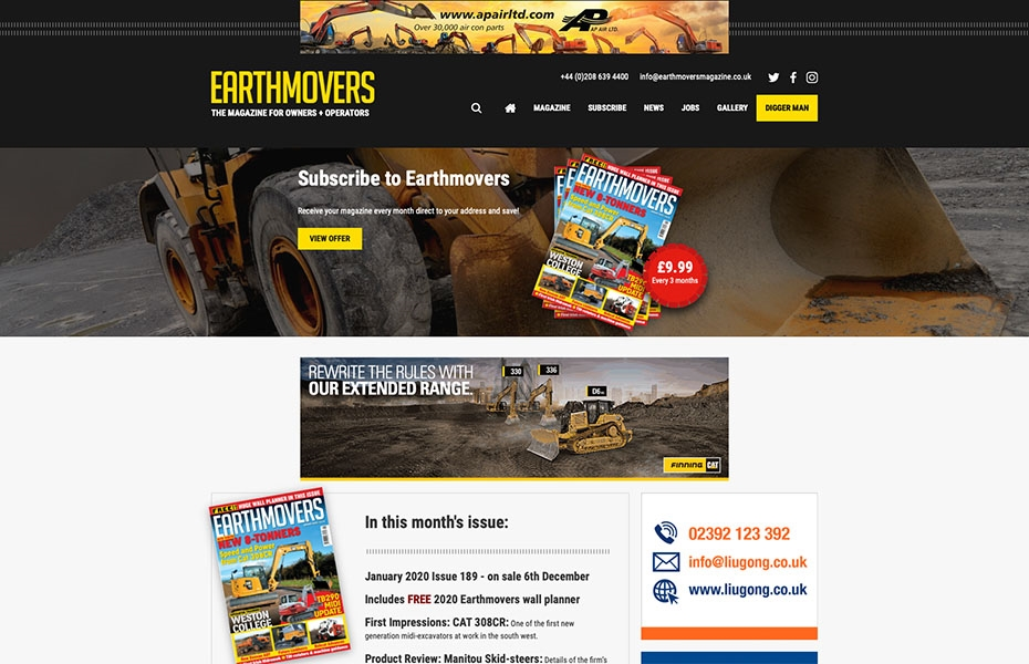 New website for Earthmovers!