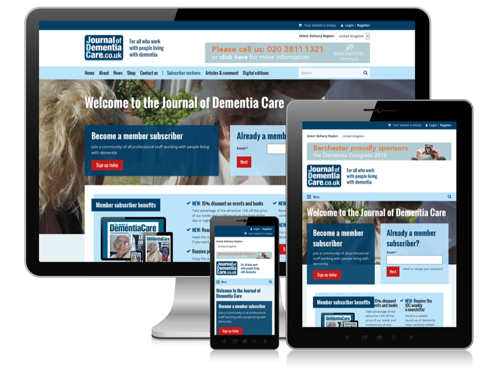 Journal of Dementia Care launches online website using ESco's Publishing Platform